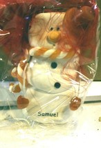 CHRISTMAS ORNAMENTS WHOLESALE- SNOWMAN- 13352-'SAMUEL'-  (6) - NEW -W74 - $5.83
