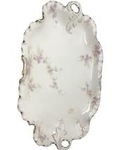 """14"""" RC Crown Platter Pink flowers Monbijou - $91.92"""