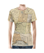 Vintage South West USA Map Women Sport Mesh T-Shirt - $35.99+