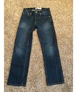 Levi's Boys Sz 12 reg 26 x 26 jeans 505 EUC pants denim Levi red tab Med... - $15.83