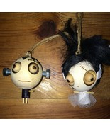 Set Of 2 Pier 1 Import Halloween Ornaments Frankenstein Monster & Bride ... - $49.99