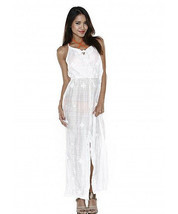 $278 Letarte Swimsuit Coverup Dress Calm Waves Chnl Neck Slit XL NWT Ext... - $94.05