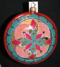 Nwt Weihnachten Glas Ornamente Dillards Verzierungen Rund Glitter Juwele... - $20.10
