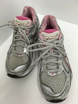 Asics GT-2150 Women's Running Training Shoes Size 7.5 Silver/Coral/Wht T054N GUC - $28.04