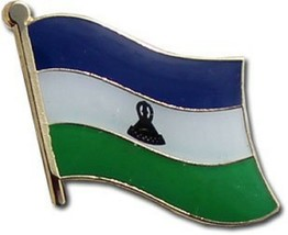 Wholesale Pack of 50 Lesotho Country Flag Bike Hat Cap lapel Pin - $74.88