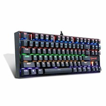 Redragon K552-R Mechanical Gaming Keyboard 87 Keys Small Compact Rainbow... - $38.27