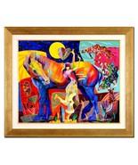 """Tadeo Zavaleta-""""Espiritu Libre""""-ORIGINAL OIL Painting/Canvas/Framed/Sign... - $2,845.25"""