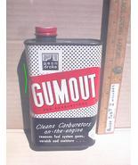 GUMOUT Vintage Rectangle Tin Can 16oz Penn Drake No UPC Oil Auto Advertising - $7.99