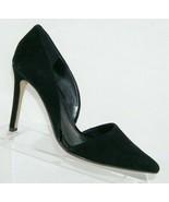Banana Republic Adelia black suede pointed toe slip on d'orsay heels 7M ... - $46.39