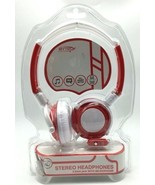 Headphones Headband White Red Built in Microphone Call Answer New in Box - $9.89