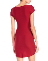 Planet Gold Size M Bodycon T-Shirt Dress Dark Red Knit Short Sleeve Dres... - $13.85