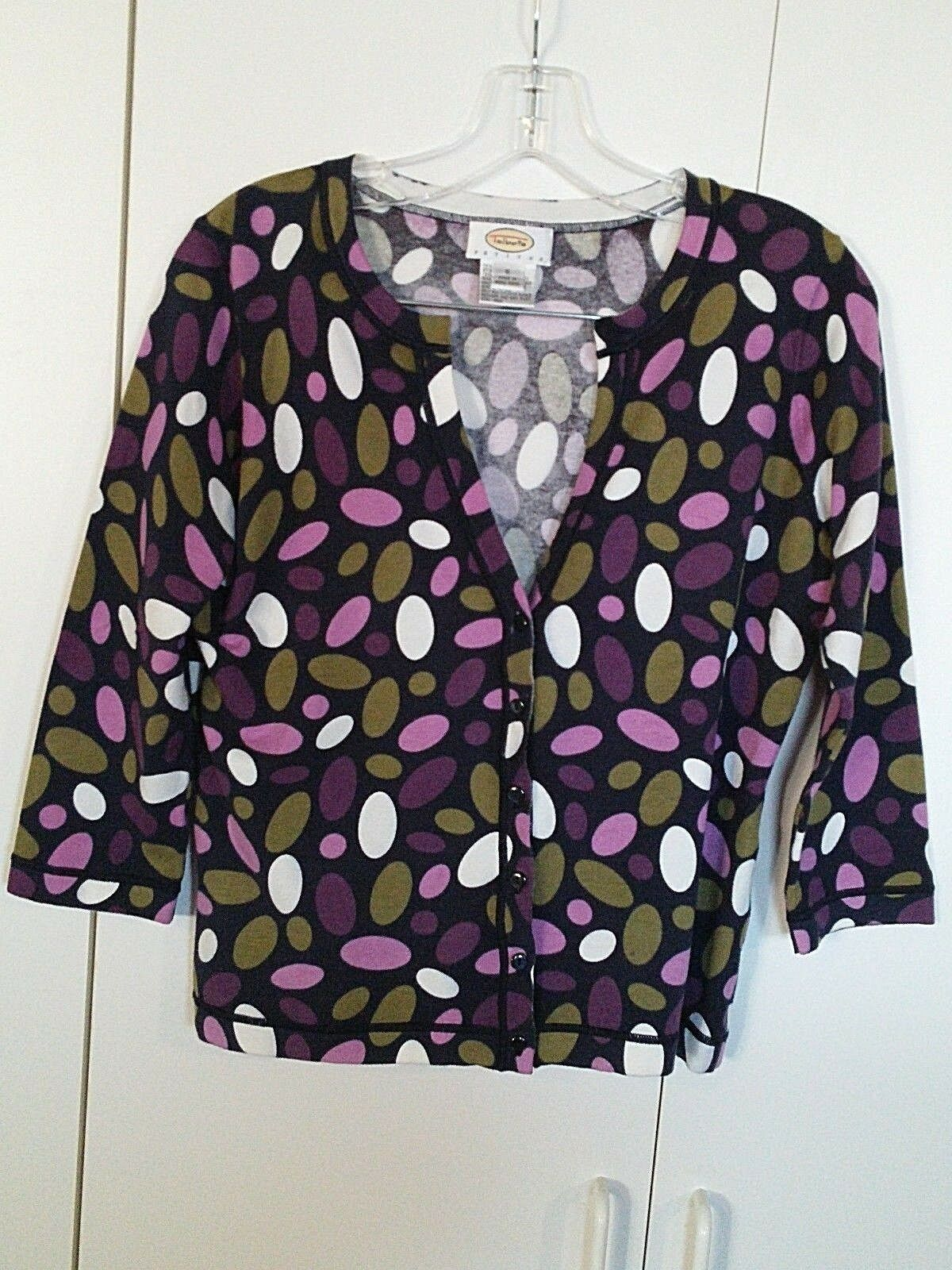 Primary image for TALBOTS LADIES LS CARDIGAN STRETCH COTTON BLEND CARDIGAN SWEATER-S-BARELY WORN