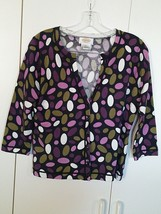 TALBOTS LADIES LS CARDIGAN STRETCH COTTON BLEND CARDIGAN SWEATER-S-BAREL... - $6.99