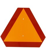 """Brady Slow Moving Vehicle Sign, 14"""" Height x 14"""" Width, Steel, Reflectiv... - $14.76"""