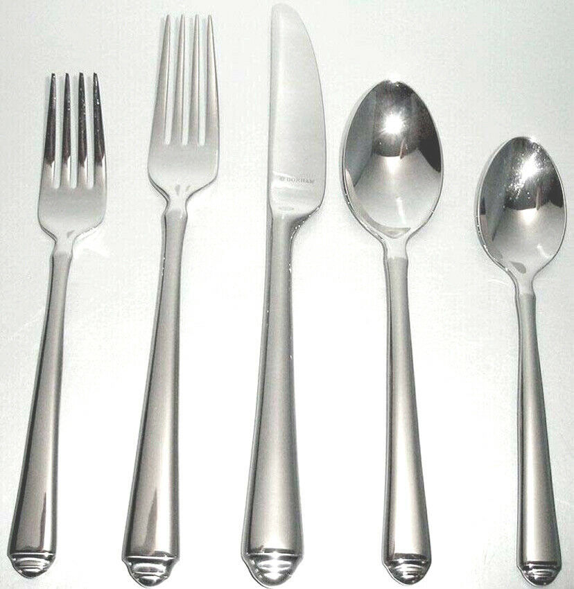 Gorham Crown Tip Stainless 5 Piece Place Setting 18/10 Flatware New In Box - $34.90
