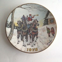 Gorham Dom Mingolla 1976 Christmas Collector Plate Limited Edition Usa - $10.06