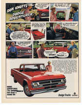 1969 DODGE Adventurer Sport Truck DON KNOTTS Print Ad  - $9.99