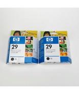 HP29 Lot of 2 OEM Black Ink Cartridges 51629AC Sealed Inner Packaging - $15.99