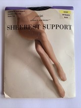 East 5th Sheer Caress Sheerest Support Size Short Off Black NOS - $12.95