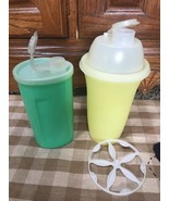 Vintage Tupperware Mixer Quick Shake Shaker Smoothie Sweet Saver Dispens... - $16.82