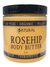 Organic Seed ROSEHIP BUTTER w/Virgin Shea 8 oz- Pure Vitamin C for the Face, Hai