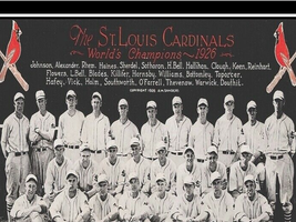 ST. LOUIS CARDINALS 1926 WORLD CHAMPS TEAM PHOTO 8X10  - $16.00