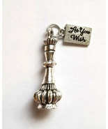 Private Listing 4 Genie Bottles Silver And Shiny As You Wish Charm For B... - $23.04