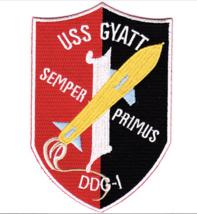 """5"""" NAVY USS GYATT DDG-1 EMBROIDERED PATCH - $16.24"""