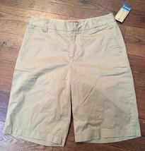 Ladies MERONA Solid Khaki Tan Beige Bermuda Shorts Size 2  NWT - $5.00