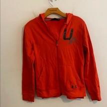 UNDER ARMOUR Youth XL Orange Zip Up Hoodie - $21.78