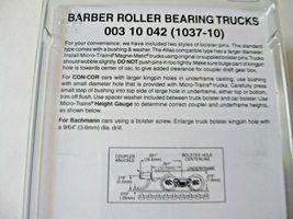 Micro-Trains Stock #00310042  (1037-10) Roller Bearing Trucks Medium Couplers image 3