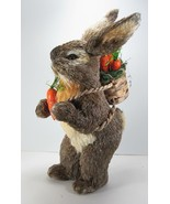 "18"" Tall Standing Sisal Easter Bunny Rabbit with Backpack of Carrots - $76.18"