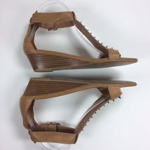 Sz Camel Women's Wedges Brown Spike Campbell Barbary Leather 8 Sandals Jeffrey aBExq0Pw7