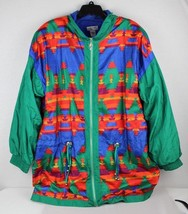 Vintage Lavon y Cheerful corp women's jacket polyester nylon multicolor ... - $22.95