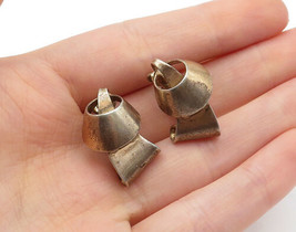 NAPIER 925 Sterling Silver - Vintage Copper Tone Non Pierce Earrings  - ... - $37.64
