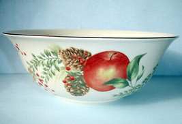Lenox Williamsburg Boxwood & Pine Serving Bowl Fruit Motif New - $129.90