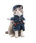 Pet Policeman Costumes Dog and Cat Halloween Suits (X-Large) - $12.80