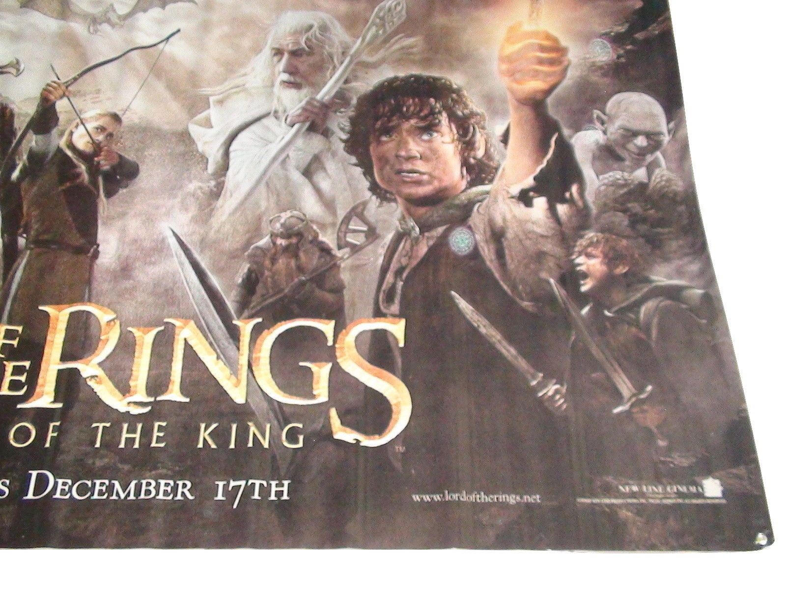2003 LOTR: RETURN OF THE KING Original Vinyl Movie Theater Banner 118x60 (25)