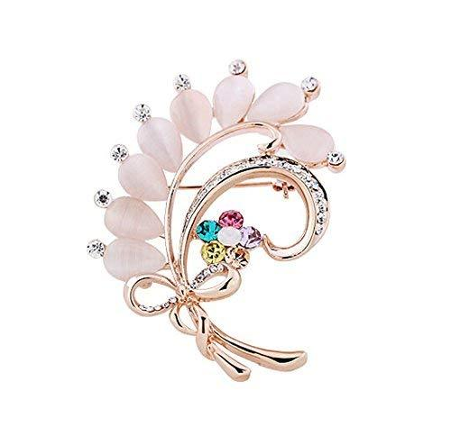 Women Gifts Fashion Plants Flowers Brooch Pin Clothing Accessories B