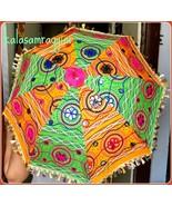 45 Pc Lot Indian Umbrella Decorative Hand Embroidered Parasol Vintage Su... - $236.67