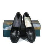 SAS EASIER Slip On Leather Loafers Tri Pad Comfort Black Size 6 1/2 M NIB - $59.39