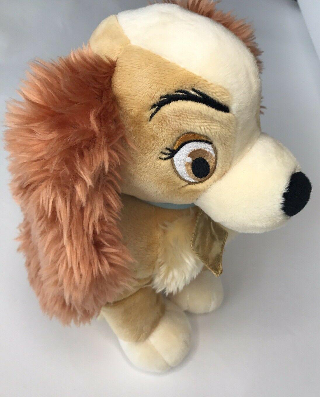 "Lady Tramp Plush Cocker Spaniel Puppy Dog Bean 12"" Stuffed Animal Disney Store image 3"