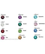 10 Bag Lot 4mmx 12 Birthstone Floating Charms Fits Glass Memory Locket N... - $7.91