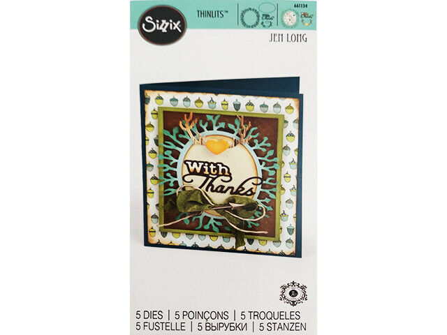 Sizzix Thinlits Phrase with Thanks and Frame Die Set #661134