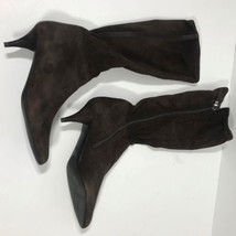 Prada Boots Womens 37.5 Brown Suede 2.5 Inches SR2 - $116.67