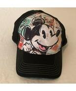 Disney Store Mickey Mouse Baseball Cap Hat Adult One Size Black Strapback - $17.99