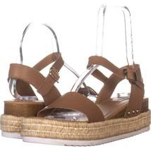 Steve Madden Chiara Ankle Strap Platform Sandals 366, Nude Leather, 9 US - $27.83