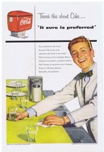 1954 Coca Cola happy red headed Soda Jerk Print Ad - $9.99