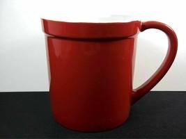 Starbucks Red & white coffee mug embossed name white interior 2012 10 oz - $14.46