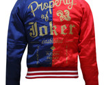 Harley Quinn Jacket Women Red and Blue Suicide Squad Satin Halloween Costume - $1.485,22 MXN
